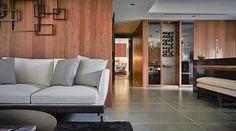 Flexform's Feel Good sectional and Guscio armchair can be seen in this beautifully designed home in Taipei, Taiwan.  #flexform #flexformny #newyork #taipei #interior #interiordesign #design #industrialdesign #furniture #furnituredesign #decor #moderninterior #moderndesign #sofa #sectional #couch #armchair