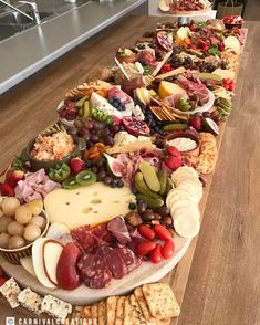Gigantic grazing board grazing tables, p Charcuterie And Cheese Board, Charcuterie Platter, Antipasto Platter, Antipasti Board, Cheese Boards, Cheese Table, Cheese Platters, Appetizer Buffet, Appetizer Recipes