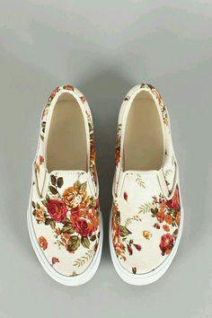 floral vans shoes