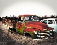 Colorful Rust Chevrolet Pickup