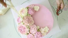 How to make and decorate a buttercream flowers cake - part 2 | Hướng dẫn...