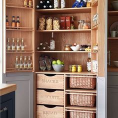 I'm in kitchen hunting mode! Trying to get the most storage as possible (I'm a bit of a bulk buyer when it comes to grocery shopping! ) and I really want to have a kitchen I really love the style of.  I'm loving this storage unit from @nakedkitchens so much useable space to clearly see and access all your food.  The door shelves are great because I always end up forgetting about spices and bottles of things I have at the back of the cupboard and when I do discover them they are usually gone…