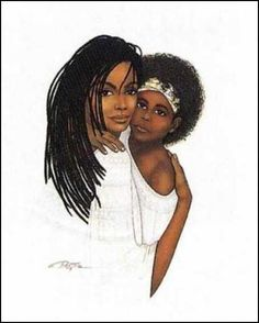 African American Romantic Art | Black Art of African American Friends and Family