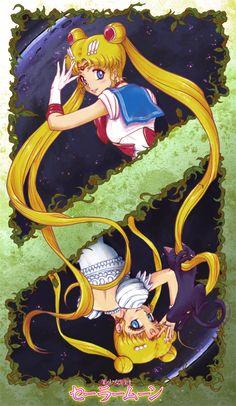 Sailor Moon and Princess Serenity