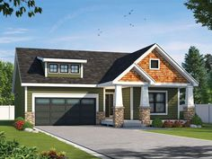 031H-0464: Bungalow House Plan for Empty-Nesters