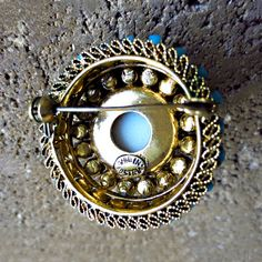 Vintage Made in AUSTRIA Turquoise Strass от americanheirlooms