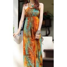 Women's Cute Hemp Flowers High Waist Color Matching Sleeveless Dress, AS THE PICTURE, ONE SIZE in Bohemian Dresses | DressLily.com
