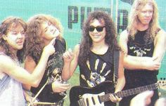 METALLICA JUST BEFORE RULING THE FUKKING STAGE!  \m/  \m/