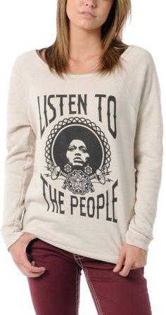Obey Listen to the People sweatshirt