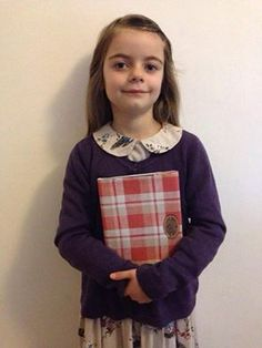Every year, #children and adults get dressed up as their favourite literary #characters and #authors to celebrate #WorldBookDay. I was absolutely amazed to see that young Romilly Watson, aged only 7, felt so inspired by #WW2 author @annefranktrust, that Romily decided to #celebrate #WBD2015 as her favourite writer!