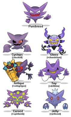 Gave the Pokemon Variation challenge a try with Gengar! | pokemon ...