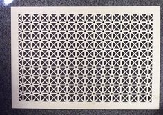 Pattern Cut Wood Wall Grille (air vent cover) $100