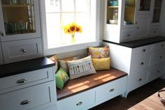 Do a window seat below a lower than counter window