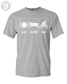 Shop4Ever Eat Sleep Bike T-shirt Funny Shirts XXX-LargeSports Grey 0 (*Amazon Partner-Link)