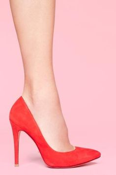 Delta Pump - Red in  Shoes at Nasty Gal