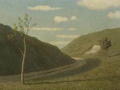 "Algernon Newton (British, 1880-1968) ""A Downland Road"", (sold for £7200 2007)"