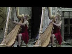 Bad Romance - Lady Gaga (Harp Duet) Camille and Kennerly, Harp Twins
