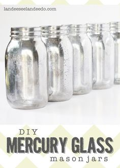 DIY Mercury Glass Mason Jars. Could do vases or other pieces. A spray bottle w mixed equals parts water/vinegar and looking glass spray paint