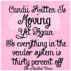 Candii Kitten IS MOVING!   Flickr - Photo Sharing!