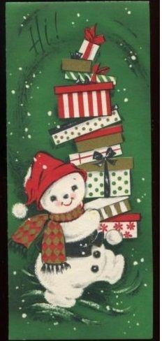 American Christmas: Snowman Slim Jim cards