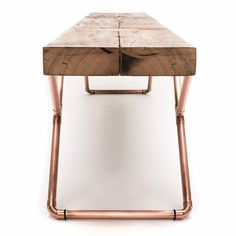 the first 'bench clip' was designed by mariana quinelato during the rebuilding of a photography studio when she realized she could reuse a roof rafter.