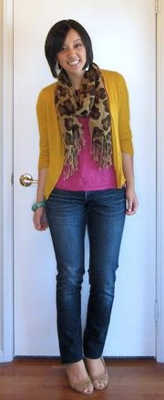 How to Wear Scarves...love the color combo