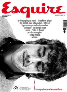 Fernando Alonso on Spanish Esquire cover