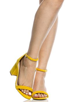 Yellow Faux Suede Chunky Ankle Strap Heels @ Cicihot Heel Shoes online store sales:Stiletto Heel Shoes,High Heel Pumps,Womens High Heel Shoes,Prom Shoes,Summer Shoes,Spring Shoes,Spool Heel,Womens Dress Shoes