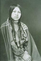 In-who-lise, Nez Perce Wife of  Andrew Garcia.  Big Hole National Battlefield, Montana, Courtesy: Western Treasures