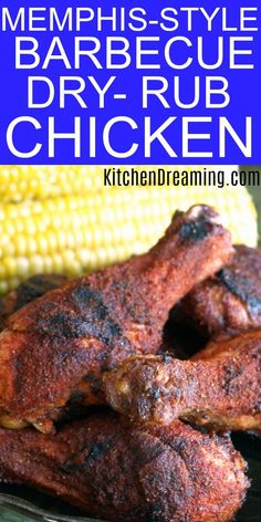 This Memphis-Style Barbecue Dry Rub keeps the chicken extremely moist, tender and delicious. We added a pinch of cayenne pepper for a little zest. – Rebel Without Applause Smoker Recipes, Grilling Recipes, Grilling Ideas, Meat Recipes, Recipies, Healthy Grilling, Spinach Recipes, Wing Recipes, Barbecue Recipes