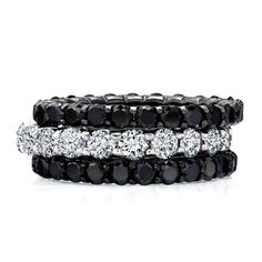 Black & white eternities! I thought I was the only one that loved black diamonds with my white rings.