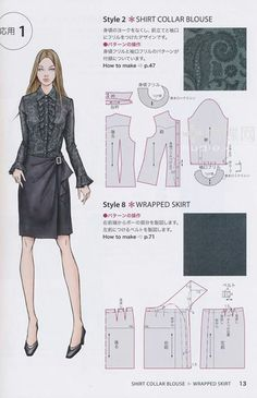 Pattern for a pleated wrap skirt