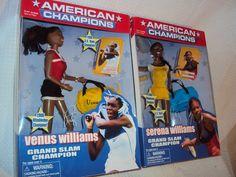 Serena and Venus Williams American Champions, Grand Slam Champion Dolls by Play Along
