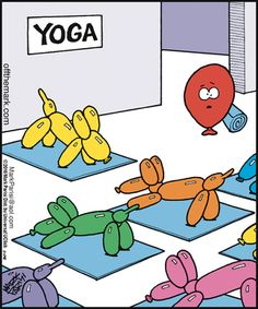 Yoga isnt here to change us or make us better. Yoga is here to help us remember to reveal our own inherent strenght beauty passion peace prosperity healing and so much more. Yoga Meme, Yoga Jokes, Yoga Humor, Workout Humor, Funny Yoga Quotes, Yoga Puns, Gym Humor, Yoga Cartoon, Funny Memes