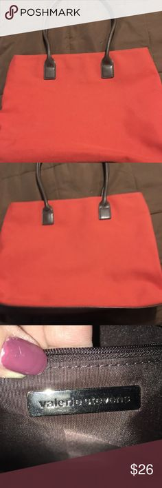 Valerie Stevens tote Valerie Stevens tote. Measurements are pictured. Bag is in great shape. Burnt orange color Valerie Stevens Bags Totes