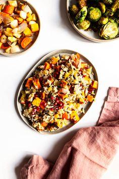 Wild Rice Vegan Stuffing with Roasted Sweet Potato & Apple | The Full Helping