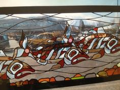 Salmon stain glass by terry wesnoski