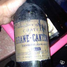 250 € //// Vends une bouteille de vin château brane cantenac de 1949 et d'autre bouteille de vin date de 1949