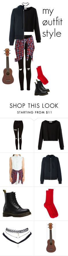"""""""my øutfit style"""" by twenty-one-pilots-outfits ❤ liked on Polyvore featuring Topshop, Evil Twin, MM6 Maison Margiela, Dr. Martens, Isabel Marant and Wet Seal"""