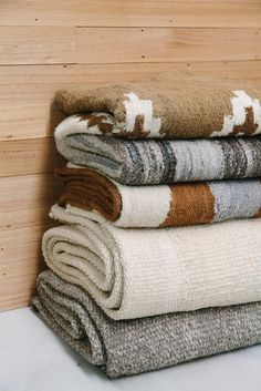 Stack of Pampa rugs, texture love!