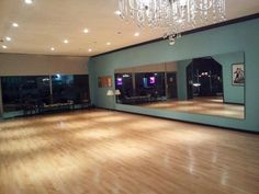 By Your Side Dance Studio - Los Angeles, CA, United States. Truly the most beautiful dance studio in Los Angeles Home Dance Studio, Dance Studio Design, Ballet Studio, Dream Studio, Ballet Room, Dance Rooms, Basement House, Pilates Studio, Studio Interior