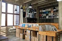 The world's best record shops - Hard Wax, Berlin - The Vinyl Factory Vinyl Record Store, Vinyl Store, Vintage Vinyl Records, New Berlin, Berlin Germany, Record Storage, Vinyl Siding, Vintage Shops, Modern