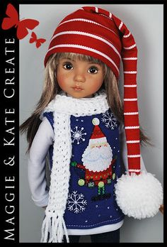 "*** WINTER *** Outfit for Little Darlings Effner 13"" by Maggie & Kate Create"