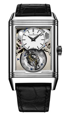 Jaeger-LeCoultre Reverso Tribute Gyrotourbillon by essential_luxury Dream Watches, Sport Watches, Luxury Watches, Jaeger Lecoultre Reverso, Jaeger Lecoultre Watches, Stylish Watches, Cool Watches, Breitling Bentley, Tourbillon Watch