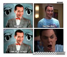 OMG I knew it! I always thought Sheldon kinda looks like Pee-Wee Herman only taller. LOL!!
