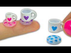 Miniatura tazas de té (se llenan de verdad) y posavasos para muñeca - Tutorial - YouTube