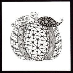 Zentangle Pumpkin