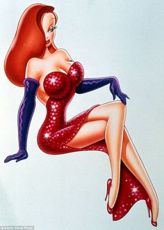 Uncanny resemblance: Mariah looked like the spitting image of Jessica Rabbit as…
