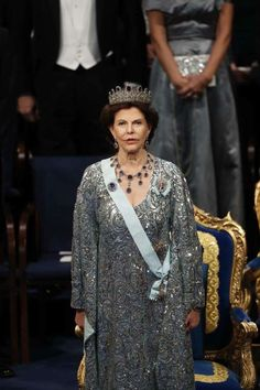 Scandinavian Royals. (@crownprincely) on Twitter: Nobel Prize Ceremony, Stockholm, Sweden, December 10, 2016-Queen Silvia