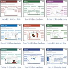 Office 2013 Quick Start Guides